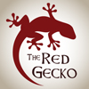 Company logo and web/print banners for The Red Gecko